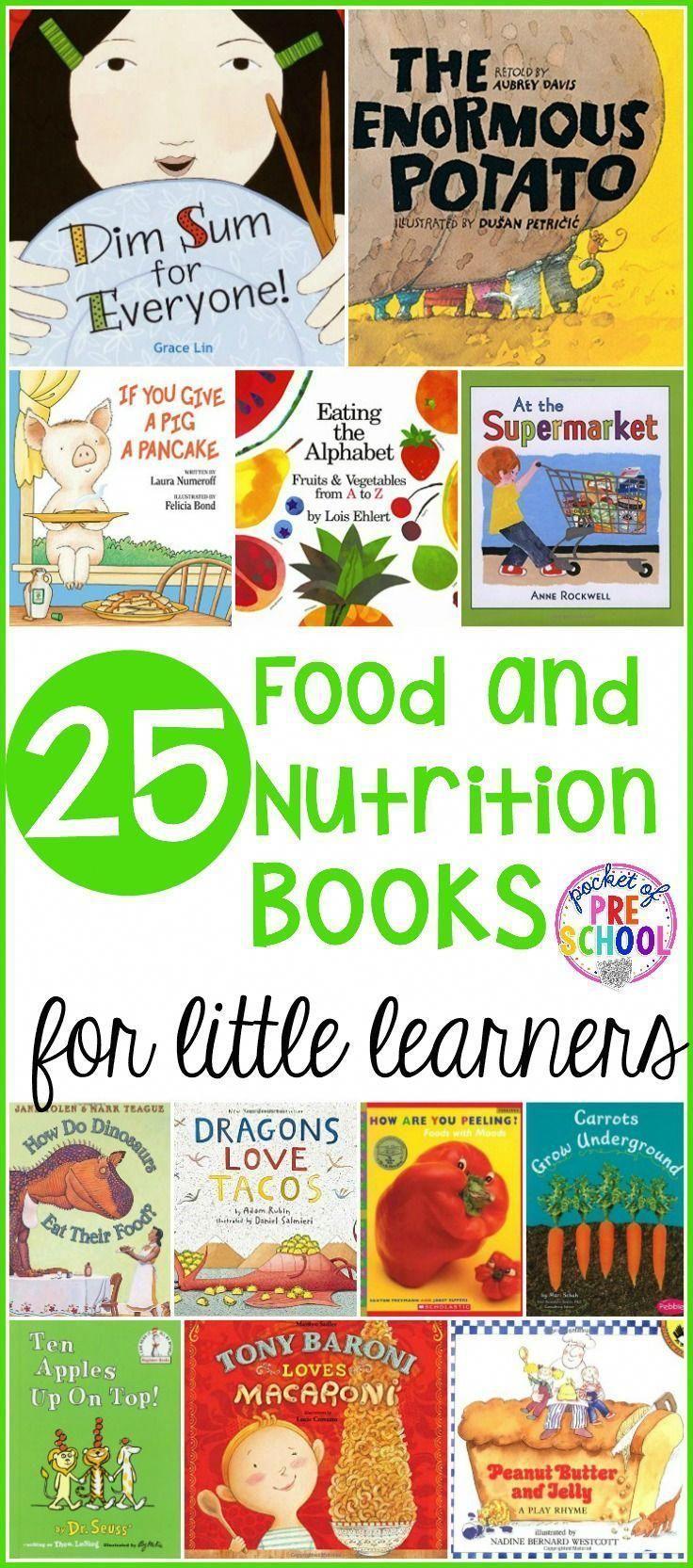 25 libri di cibo e nutrizione perfetti per la scuola materna prek e scuola materna Uso