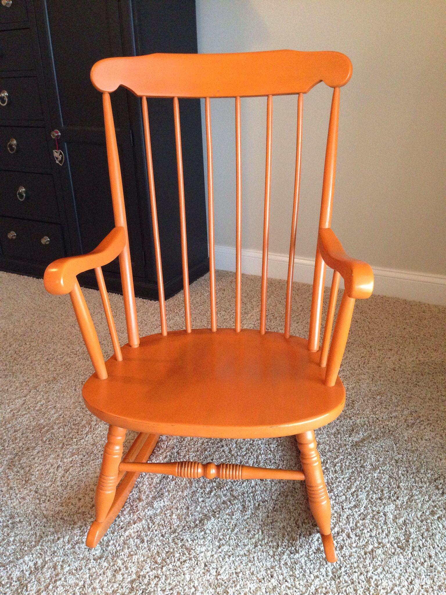 Annie Sloan Barcelona Orange With Dark Wax Refurbished Furniture Real Milk Paint Company Diy Furniture