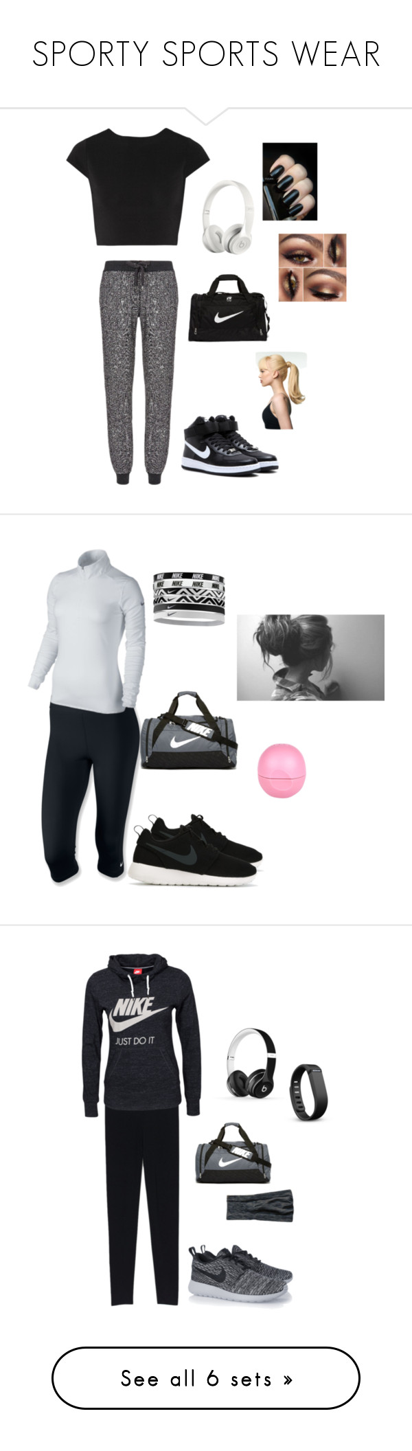 """SPORTY SPORTS WEAR"" by kendalljenner01 ❤ liked on Polyvore featuring beauty, Alice + Olivia, Sweaty Betty, NIKE, Beats by Dr. Dre, Toni&Guy, interior, interiors, interior design and home"