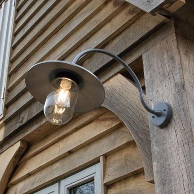 Applique Exterieure Murale Col De Cygne En Acier St Ives Gris Eclairage Porche Lanterne Murale Eclairage Mural