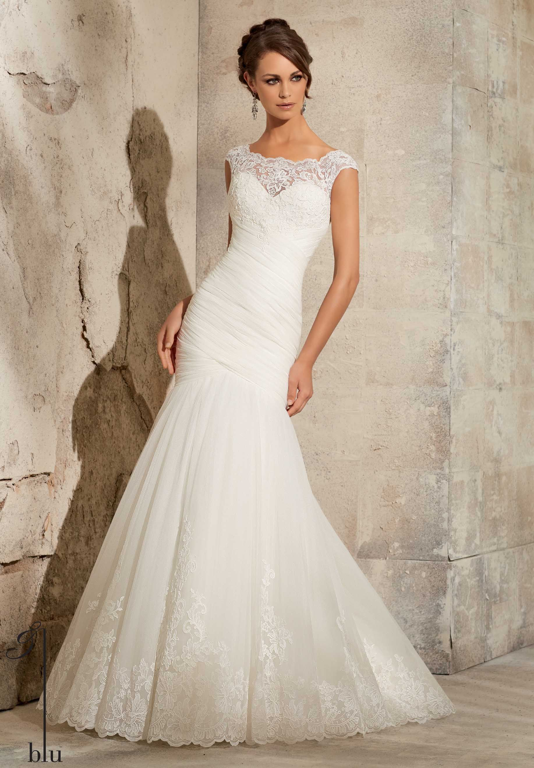 Mori lee by madeline gardner blu collection 2015 mori lee for Mori lee wedding dress prices