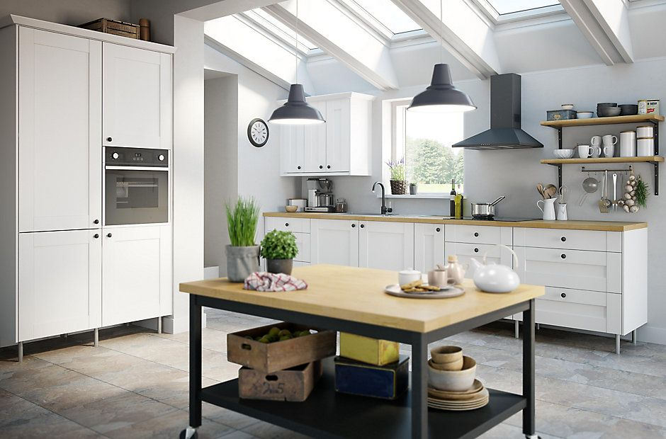 It westleigh ivory style shaker diy at b q j for Ivory kitchen ideas