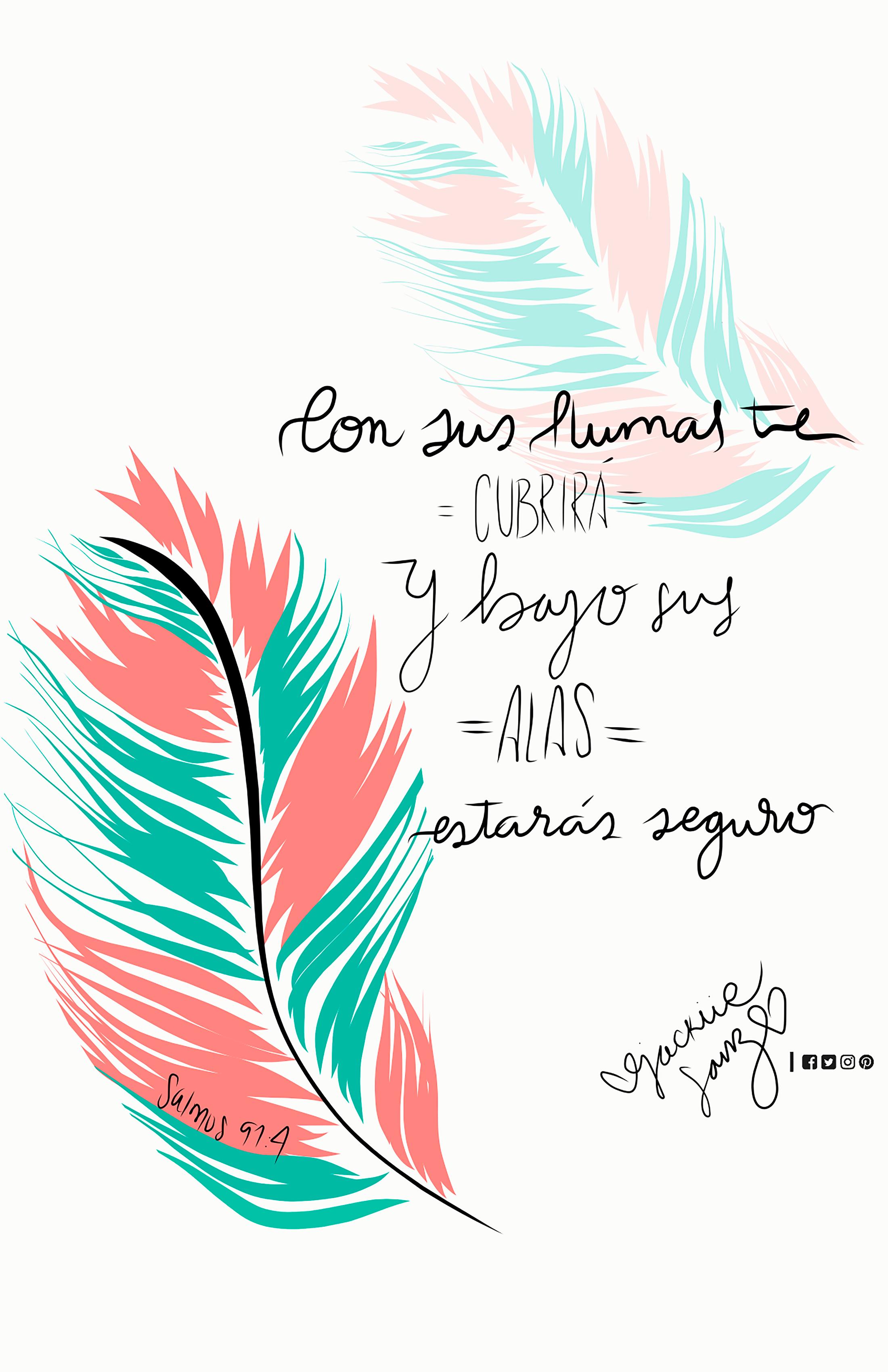 Salmos 91:4 con sus plumas te cubrirá | Fondos | Pinterest | Salmo ...