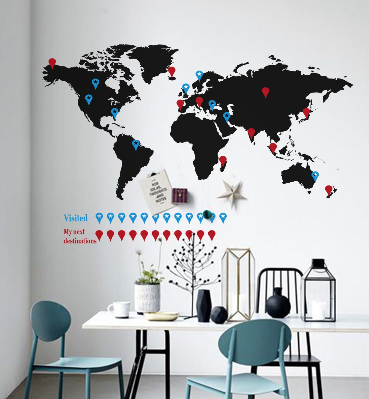World map wall decal travel wall decal world map sticker map vinyl excited to share the latest addition to my etsy shop world map wall decal gumiabroncs Image collections