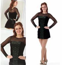 LADIES Celtic//Lyrical DELUXE Irish Dancing Dress with nylon sparkle sleeves