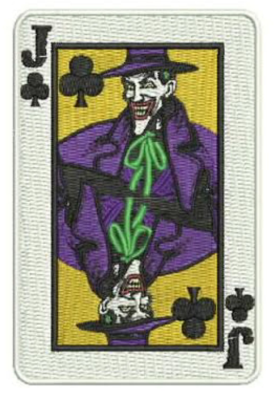 "4"" Joker Gang Goon Playing Card Patch THUG Batman 1989"