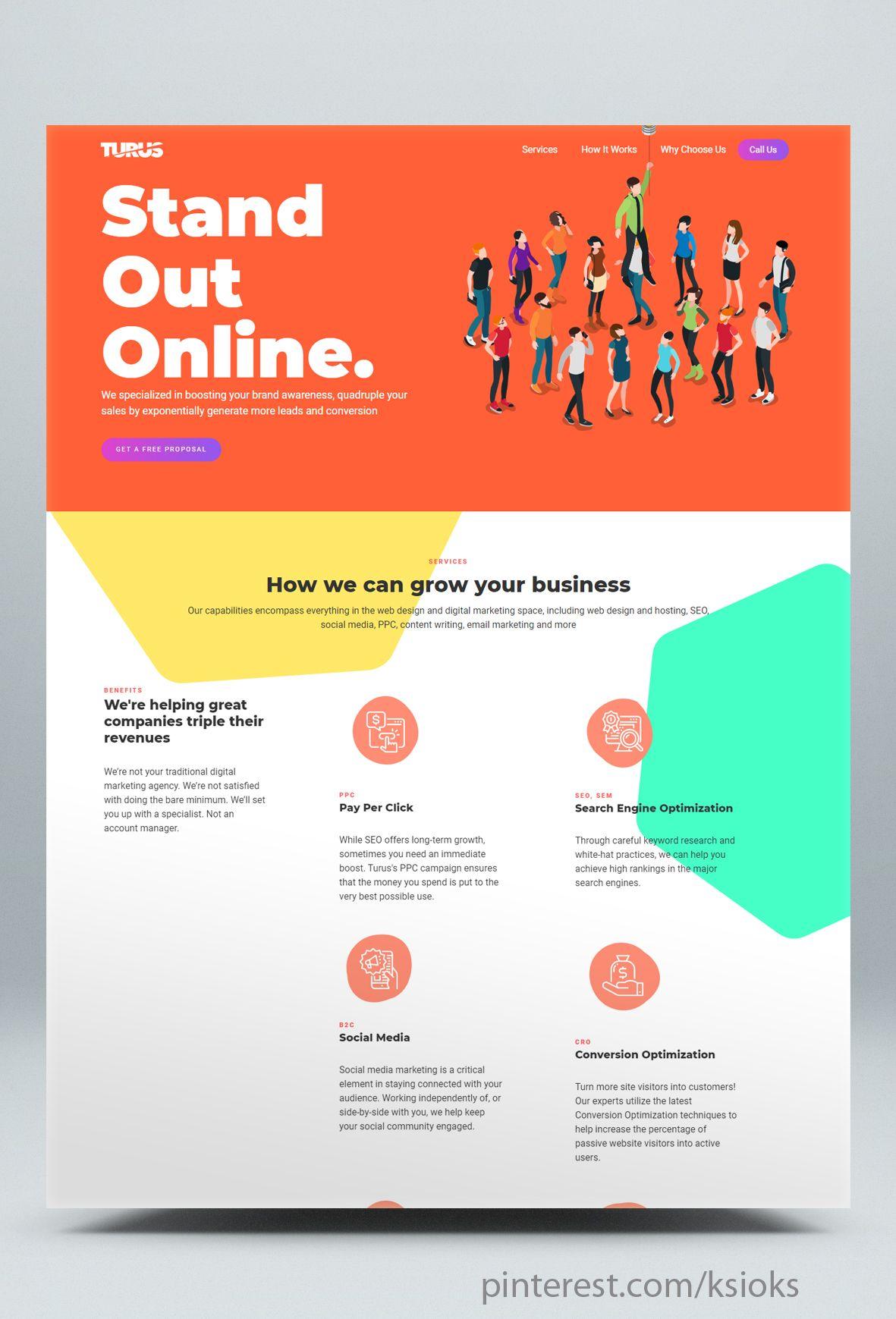 Digital Marketing Agency Html Website Template Marketing Agency Website Digital Marketing Agency Agency Website Design