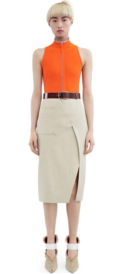 Acne Studios Karlotta Li Natural Below the knee skirt Below The Knee Skirt,  Fashion Studio d51bcaa88d5