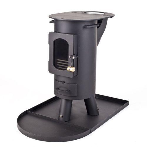 The Traveller stove log burner mutli-fuel portable wood burner Flat Black   eBay