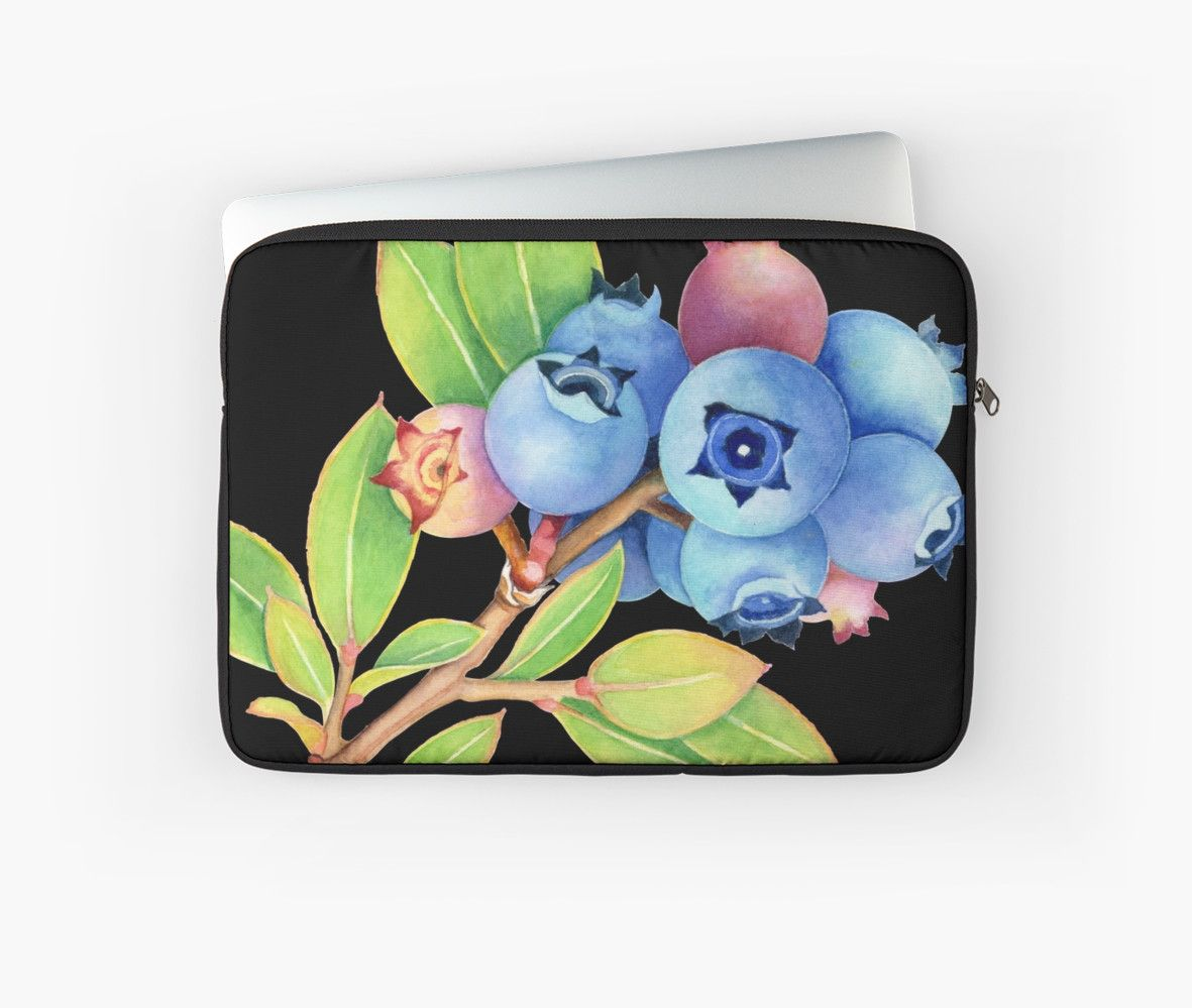 Wild Maine Blueberries MacPro Laptop case by #PatriciaSheaArt - thank you buyer!!
