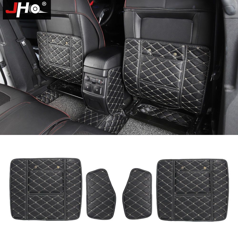 Leather Car Seat Back Anti Kick Mats For Ford Explorer 2013 2018