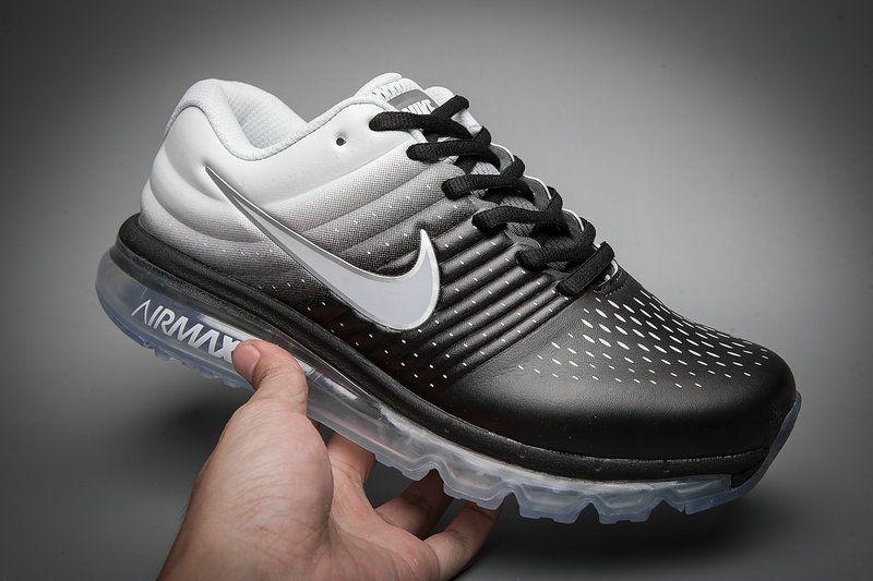 official photos eace4 6e1c0 ... shoes 5d924 d9e87 get leather nike air max 2017 gradual change black  white tick running women men dd7cd 9c140 ...