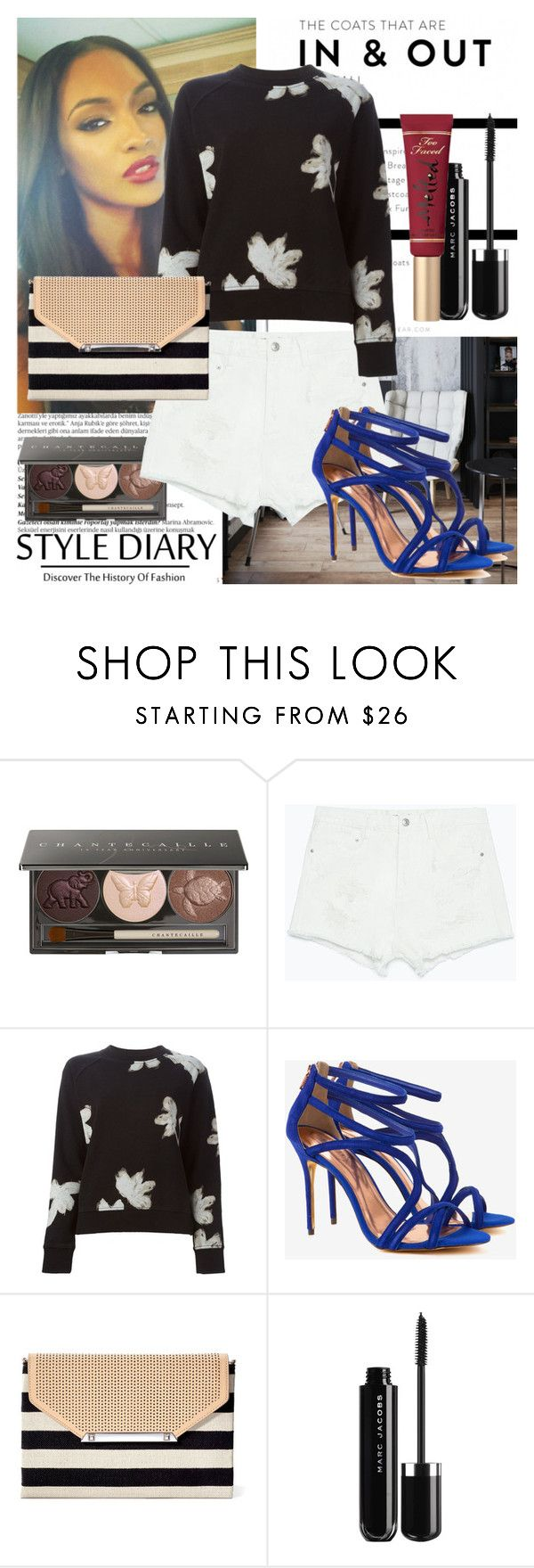 """In & Out"" by raincheck ❤ liked on Polyvore featuring Balmain, Dunn, Chantecaille, Zara, Marc by Marc Jacobs, Ted Baker, Stella & Dot and Too Faced Cosmetics"