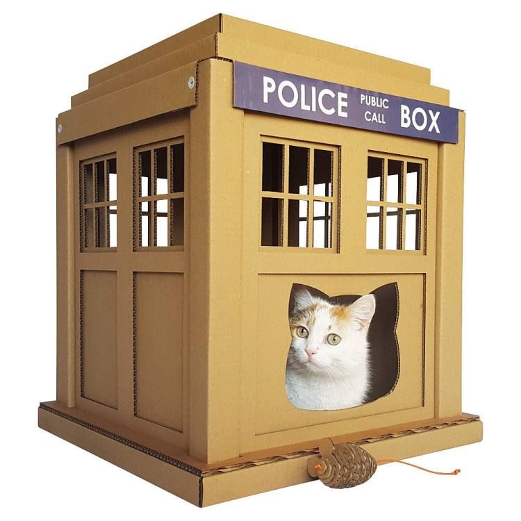 Elegant Fabulous TARDIS And Stormtrooper Themed Cat Furniture Made From Recycled  Cardboard
