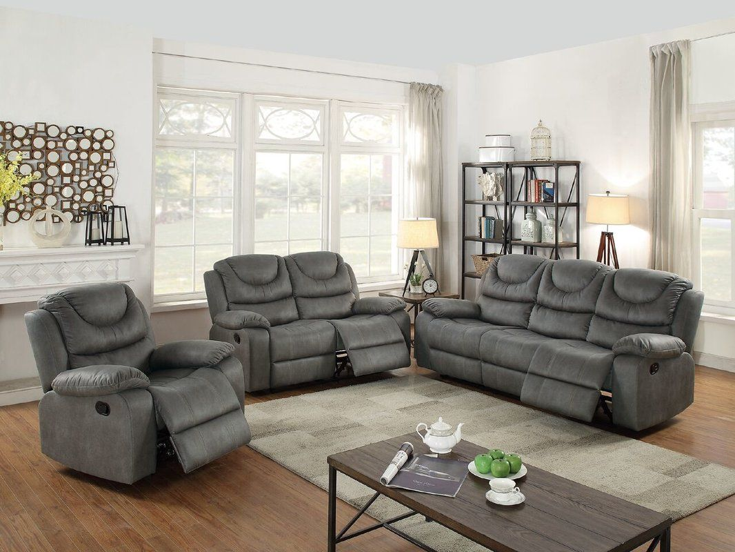 Sunderman Motion 3 Piece Reclining Living Room Set Living Room