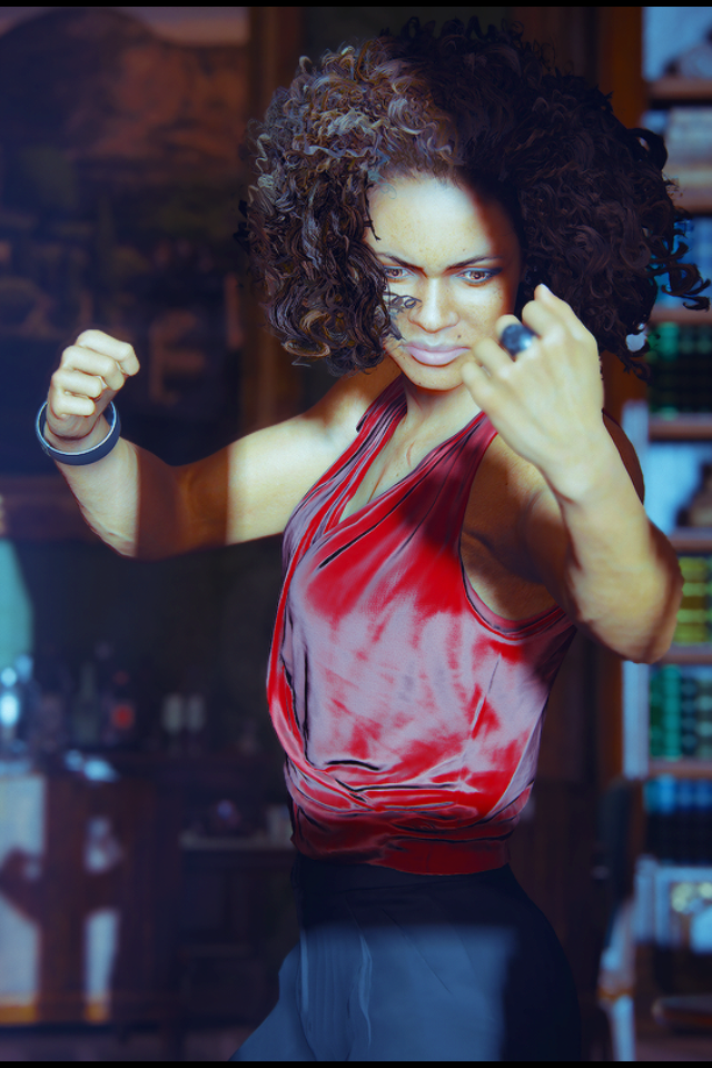 Nadine Ross In Her Fighting Stance Uncharted Game Uncharted Uncharted Series