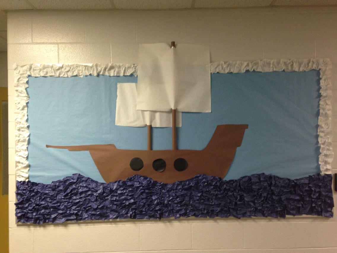 Mayflower Ship School Bulletin Board