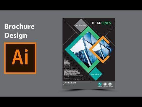 Modern Brochure Design In Adobe Illustrator  Youtube  Adobe