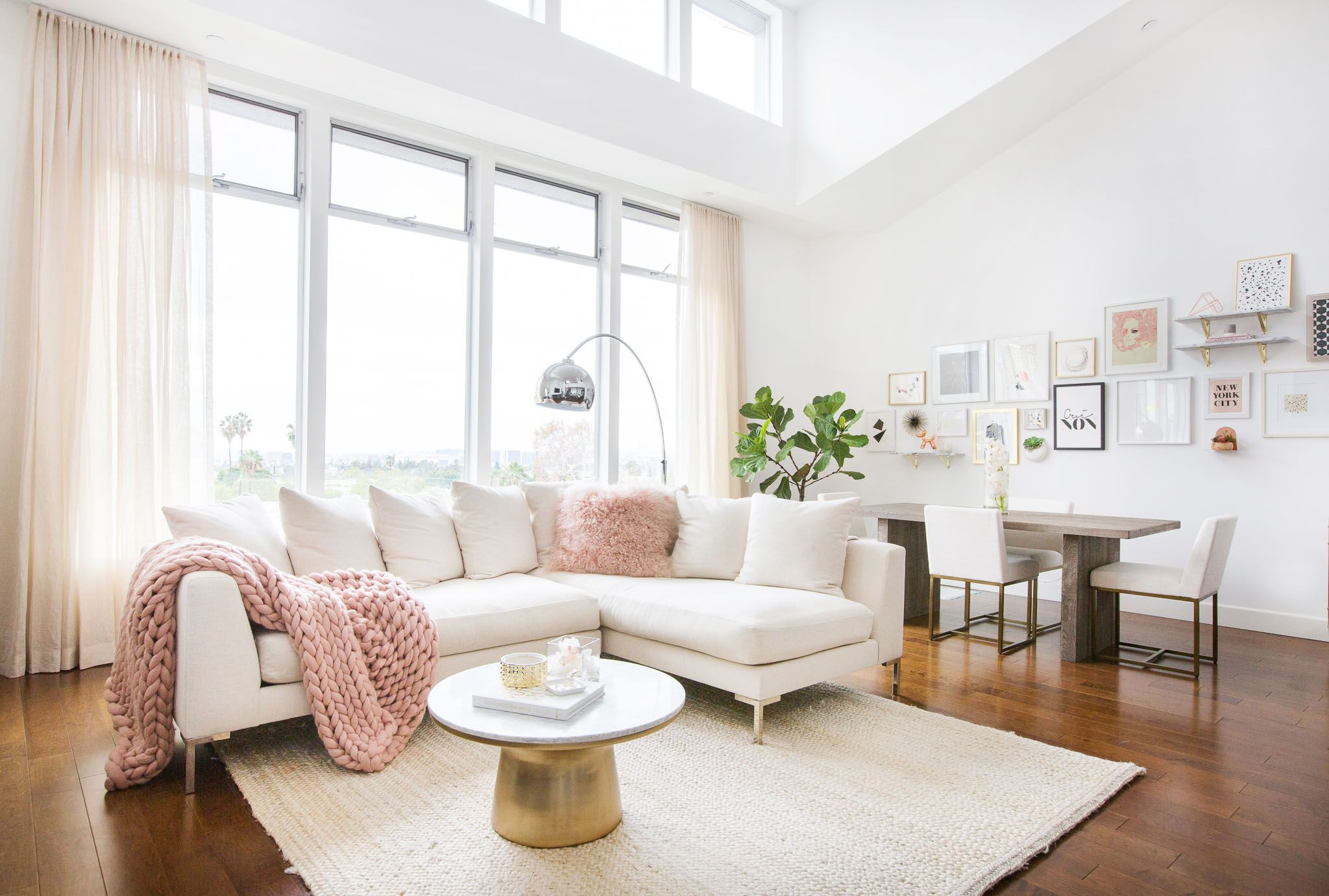 2017 Color Trend: Millennial Pink | Living rooms, Interiors and Room