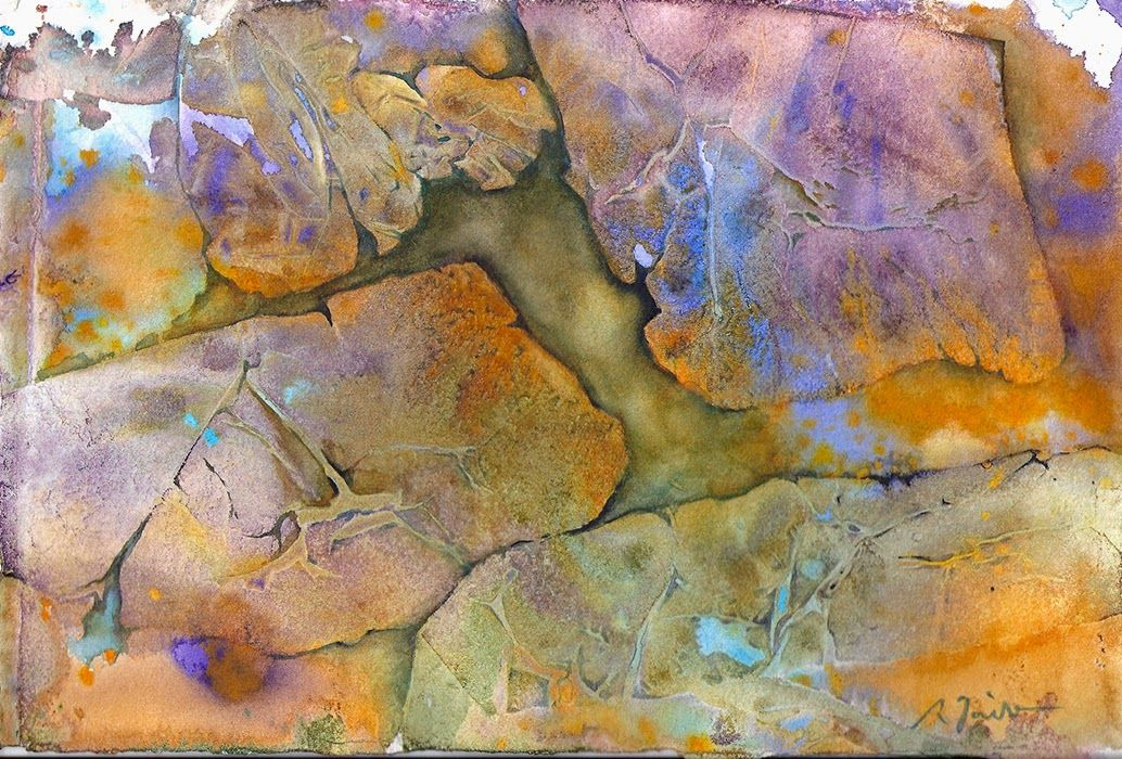 Sumiyo Toribe Experimental Series Watercolor On Four 7 5 X11