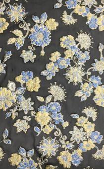 Metallic Silk Blend Organza Fil Coupé