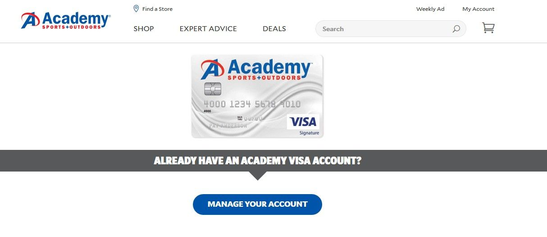 Academy Credit Card Academy Visa Card Visa Card Cards