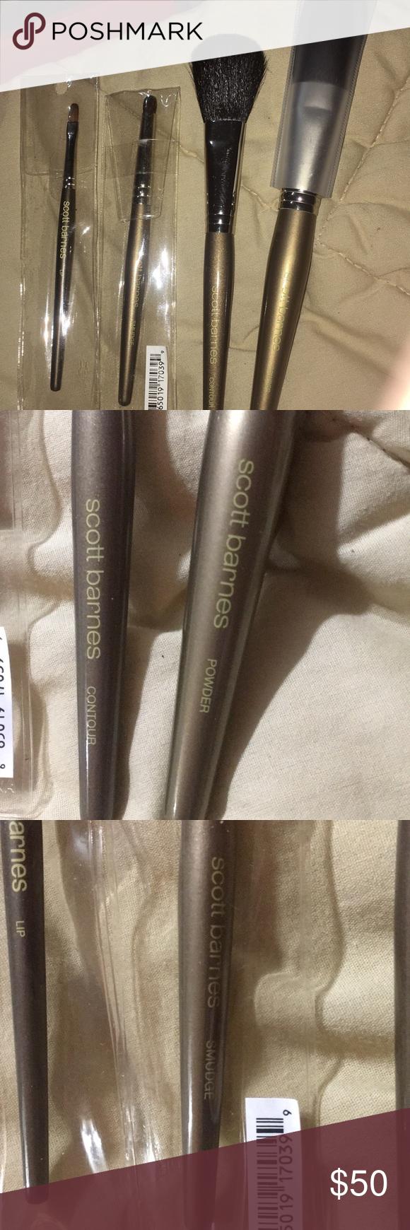 SCOTT BARNES BRUSH SET CONTOUR POWDER SMUDGE LIP Makeup