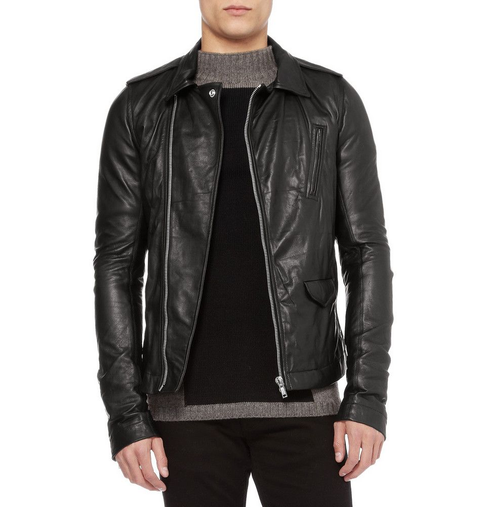 Rick Owens Leather Biker Jacket | MR PORTER