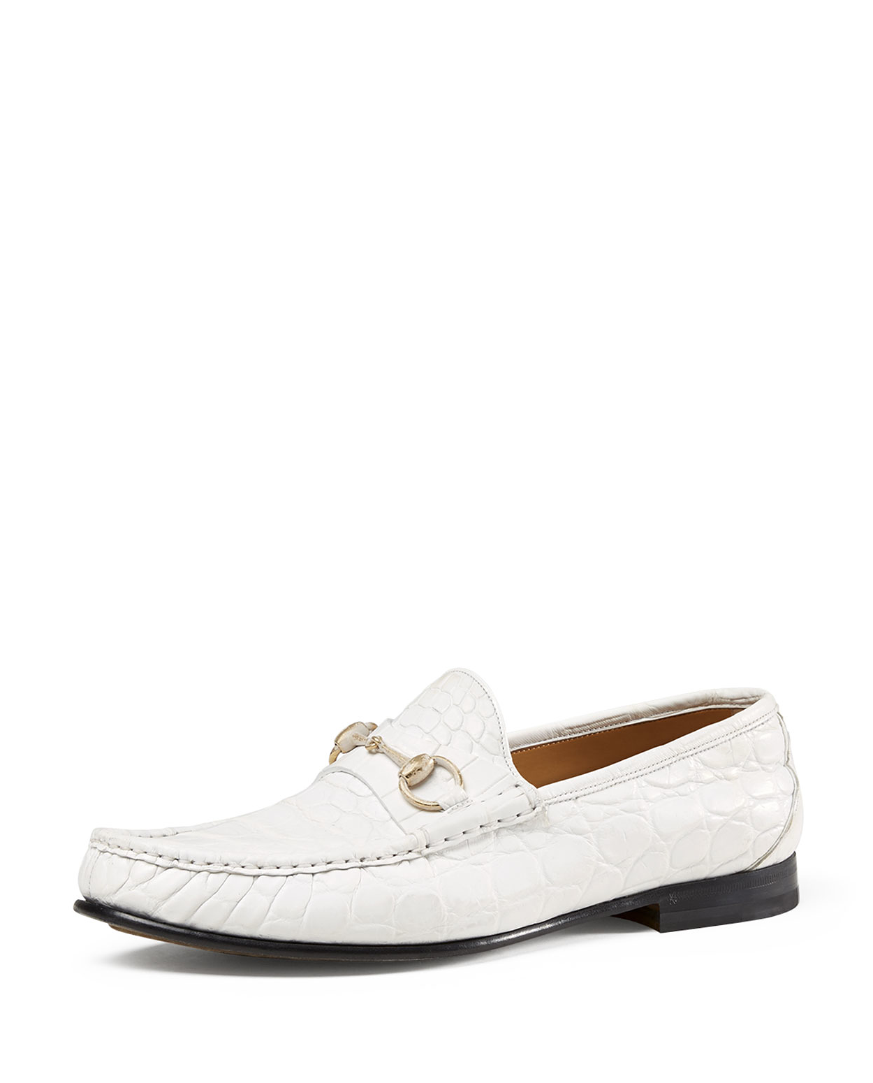c9996b789 GUCCI Men's Crocodile Horsebit Loafer, White - was $2400.0, now $1200.0  (50% Off). Picked by mickster @ Bergdorf