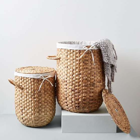 Round Weave Laundry Baskets Natural Woven Laundry Basket