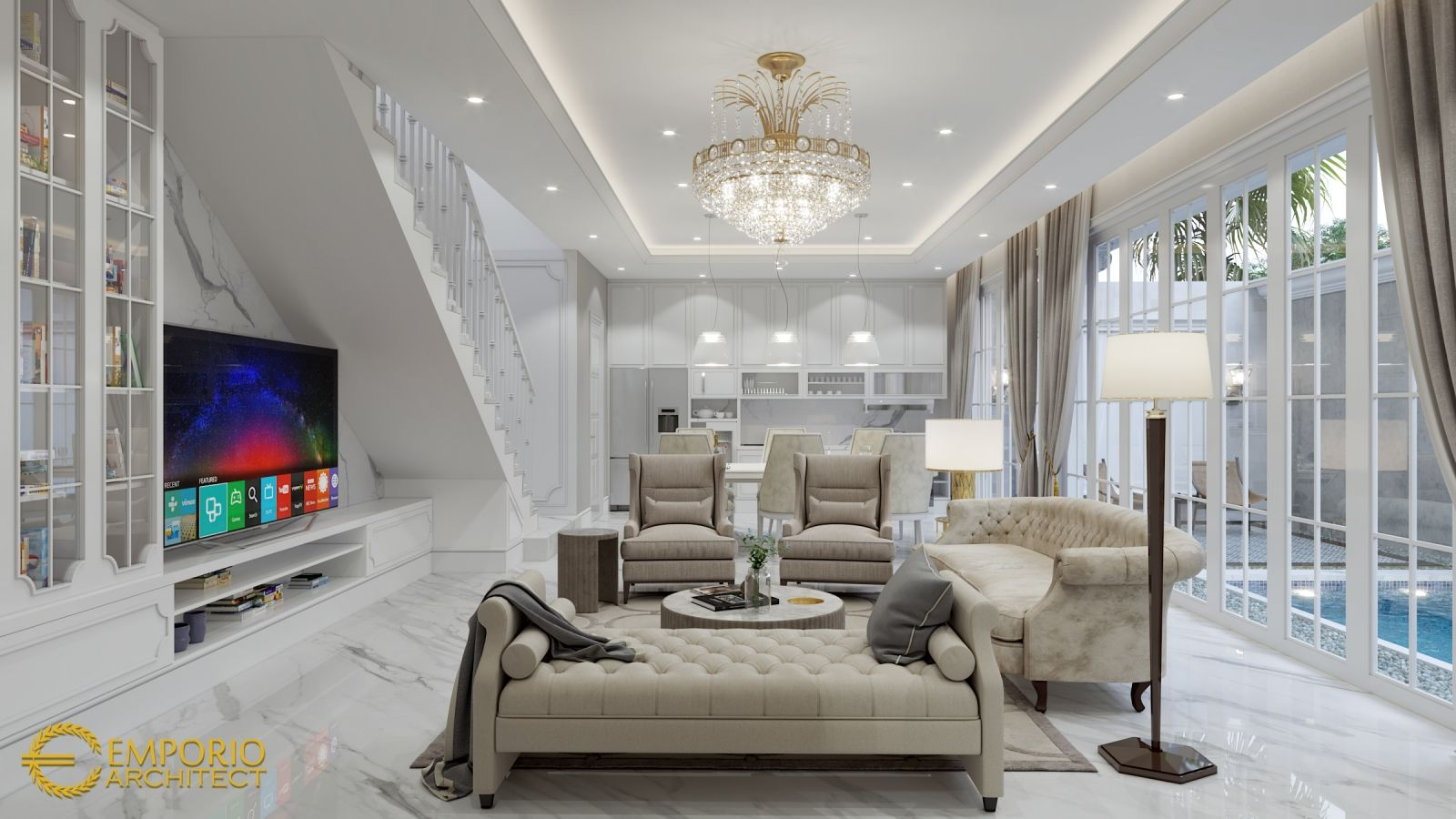 Jasa Desain Interior Rumah - Living Room #desaininterior #desaininteriorrumah #jasainterior #jasadesaininterior #interiorrumah #jasainteriorrumah #interiorrumahminimalis #interiorrumahmodern