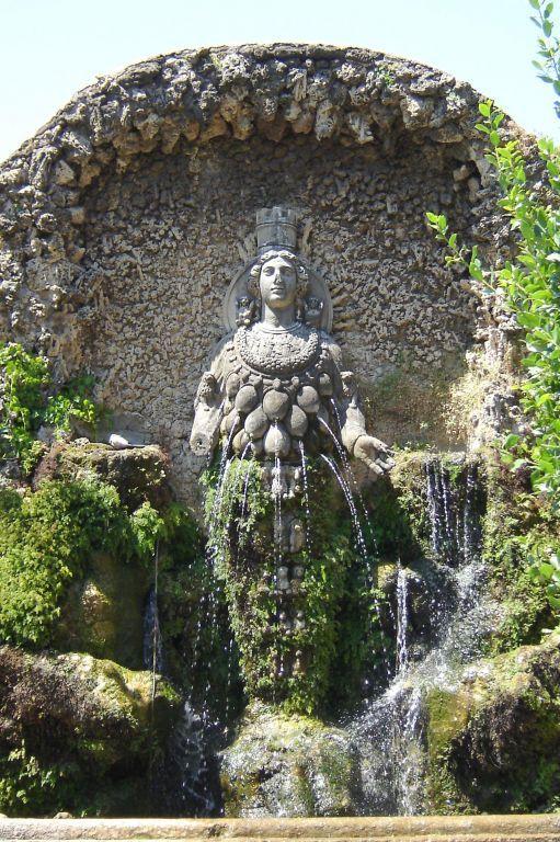 Artemis Fountain In Villa D Este Tivoli Italian Garden Italy Travel Tivoli Villa D Este