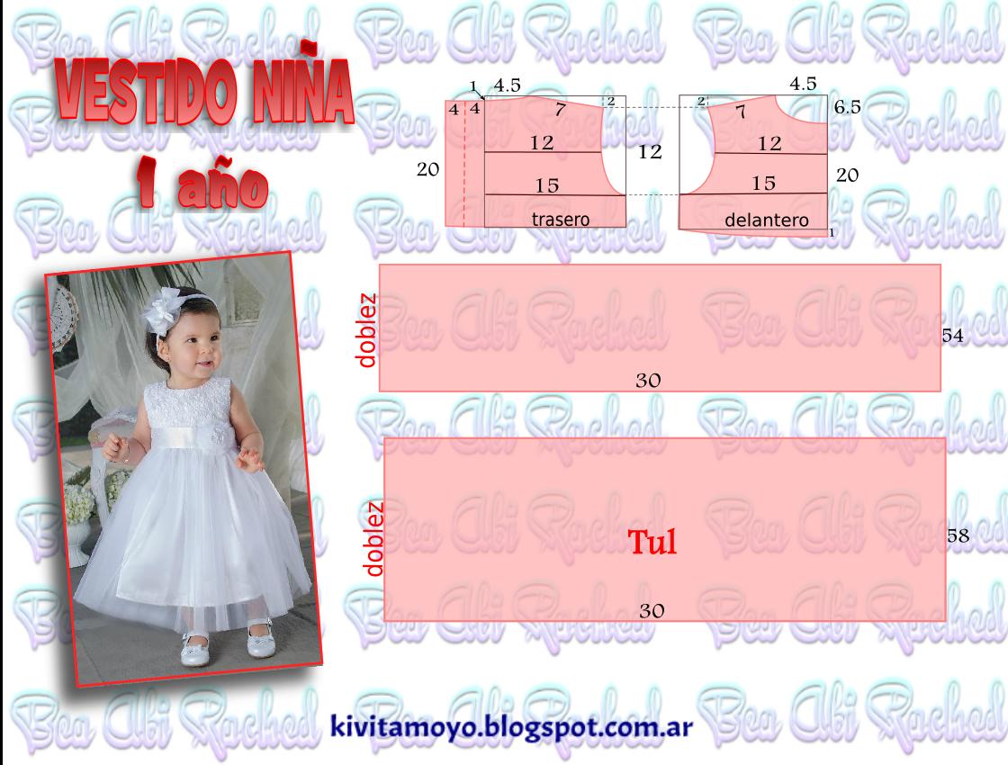 KiVita MoYo: VESTIDO NIÑA 1 AÑO | KiVita MoYo - trazar y crear ...