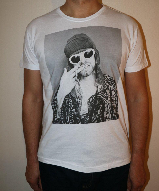 Black sabbath t shirt etsy - Kurt Cobain T Shirt Custom Printed T Shirt An Iconic Singer
