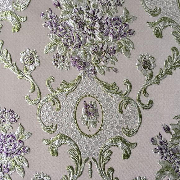 Luxurious Jacquard Woven Light Blue Khaki Damask Emboss Flower Garments Sofa Curtain Upholstery Fabric 280cm Wi Upholstry Fabric Fabric Decor Antique Wallpaper