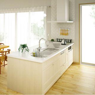 キッチンリフォーム コンフォルタ749 700円2450サイズp型 システムキッチンリフォーム システムキッチン 注文住宅