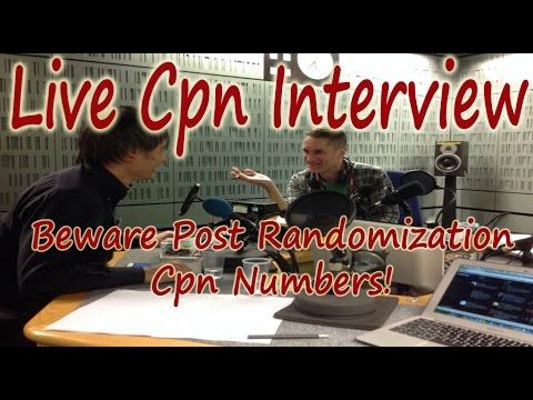 LEGAL CPN INTERVIEW WITH PERSON WITH BAD CPN NUMBER   Work