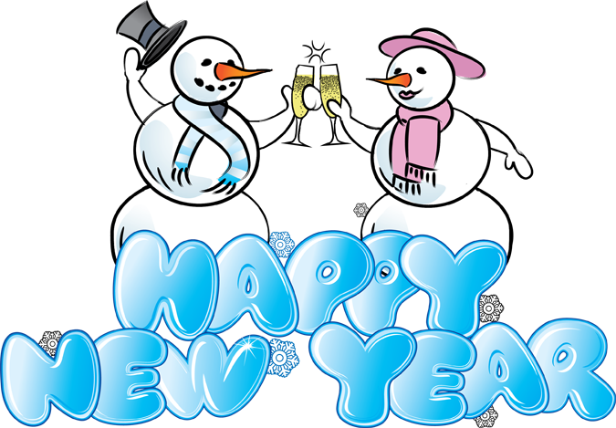 Great Clip Art of Snowmen and Carolers | Happy new year ...