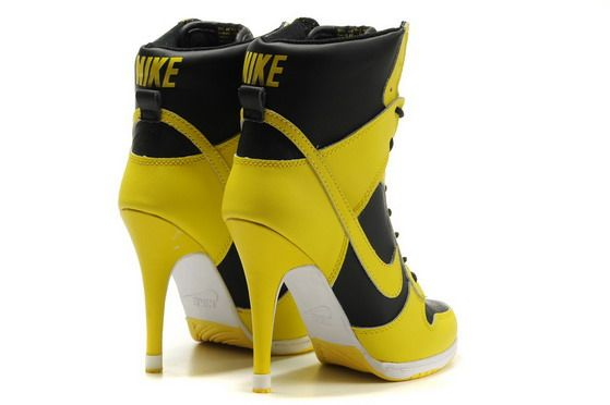 reputable site ef5b1 7e221 Womens Nike Dunk SB High Heels Black Yellow | Must Have | Shoes ...