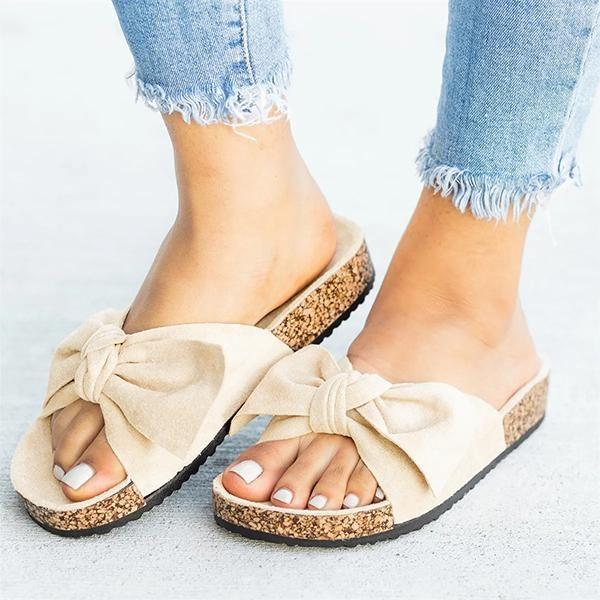 fb481212a Variedshoes Cute Bowknot Platform Flat Sandals – variedshoes