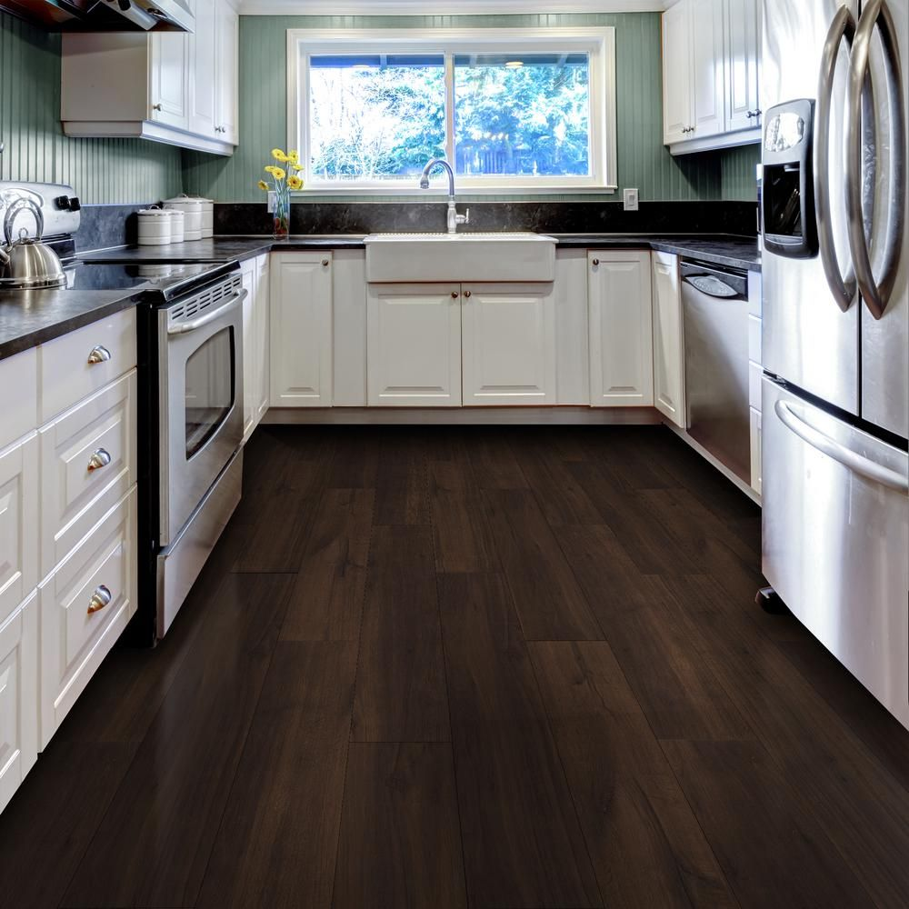 Allure Ultra 7 5 In X 47 6 In Espresso Oak Luxury Vinyl Plank