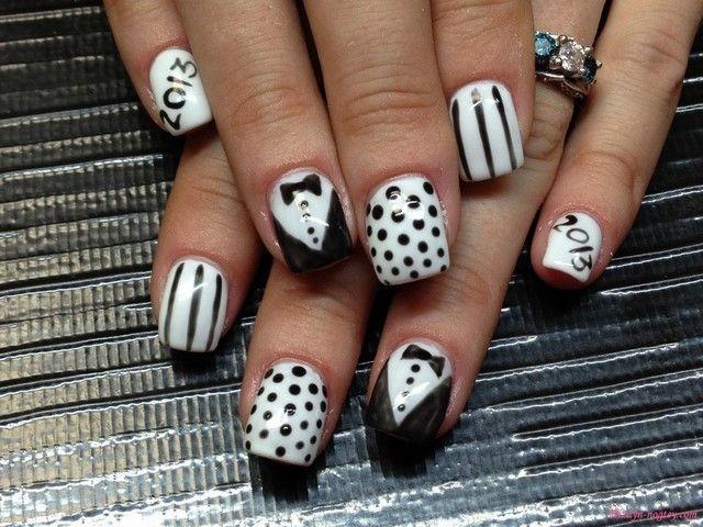 Uñas decoradas: las mejores ideas para tu manicura | Blanco negro ...