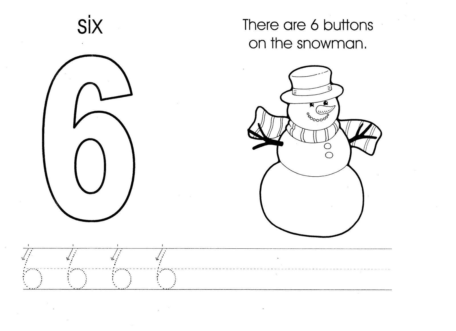 Six Snowman Worksheet