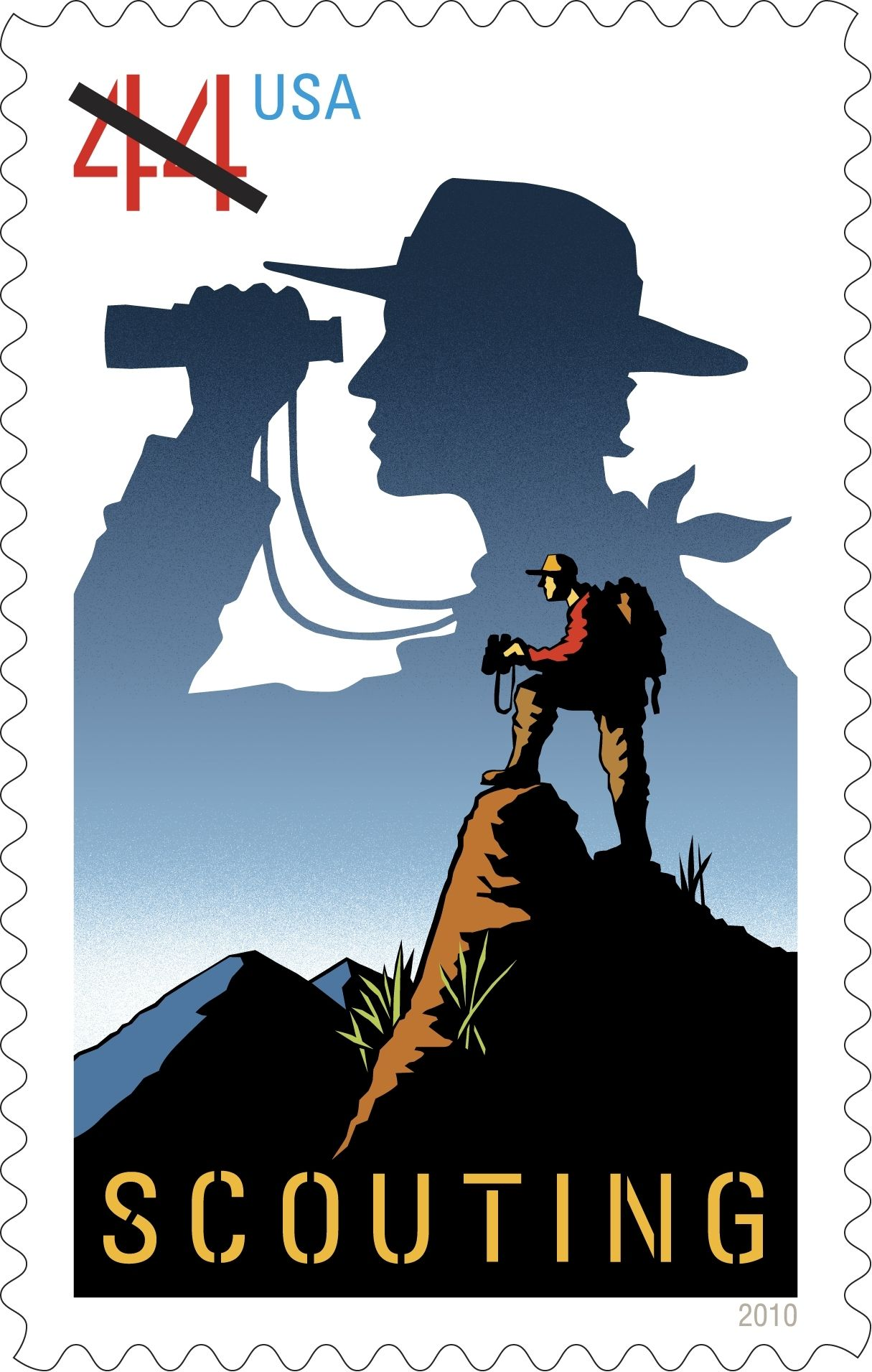USA Postal Stamp celebrating the 100th Anniversary of Scouting in – Eagle Scout Requirements Worksheet