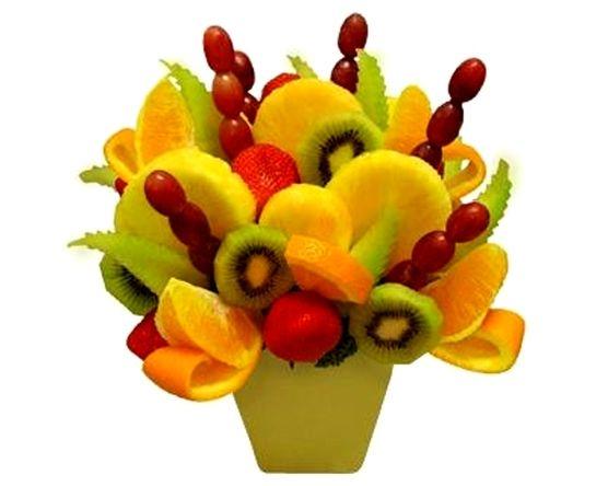 fruit bouquet juicy mix fruit bouquet pinterest fruit arrangements fresh fruit and food art. Black Bedroom Furniture Sets. Home Design Ideas