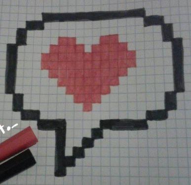 Te Amo Emoji Dibujos En Cuadricula Dibujos Pixelados Dibujos