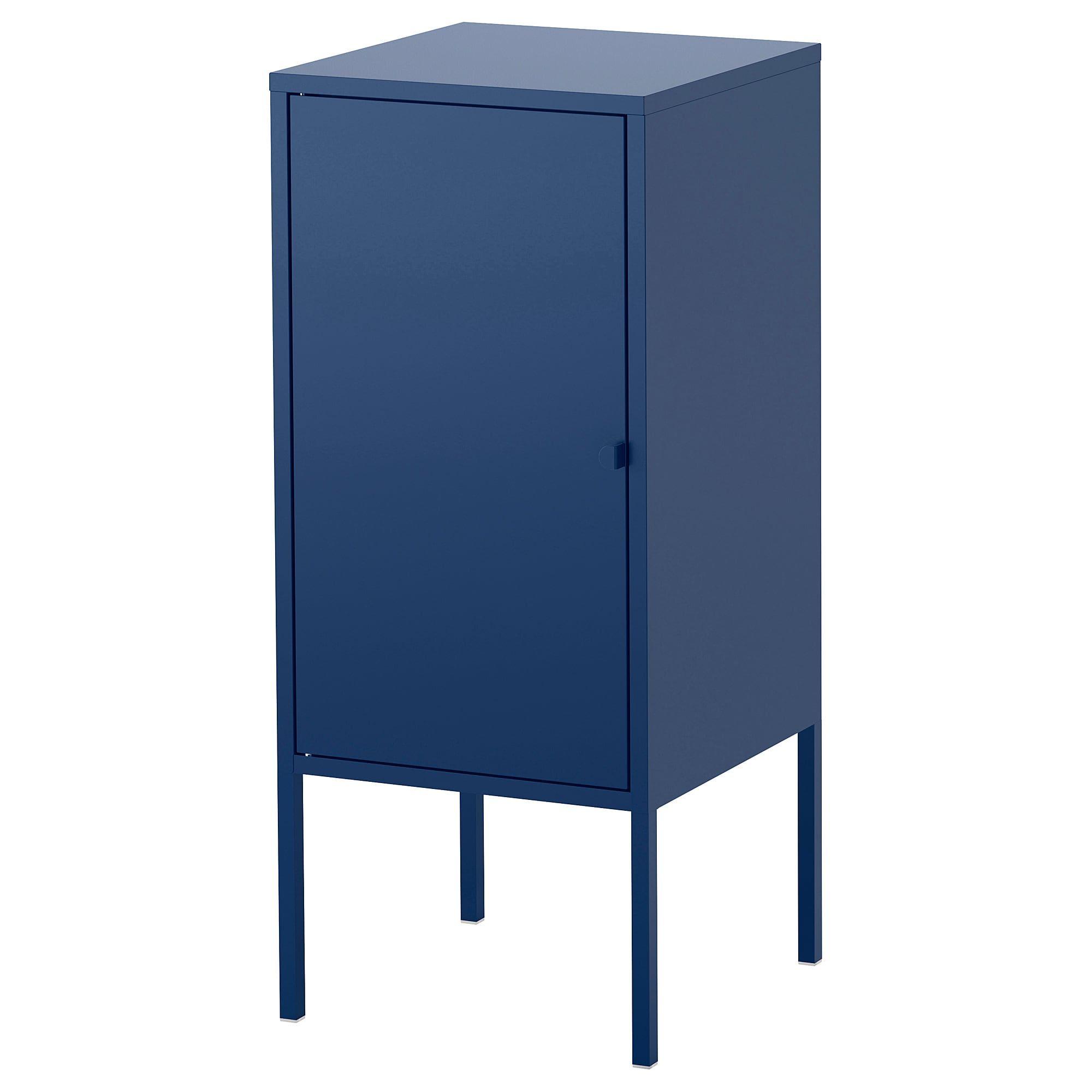 Ikea Lixhult Metal Dark Blue Cabinet In 2020 Ikea Shelving Unit Ikea Glass Cabinet Doors