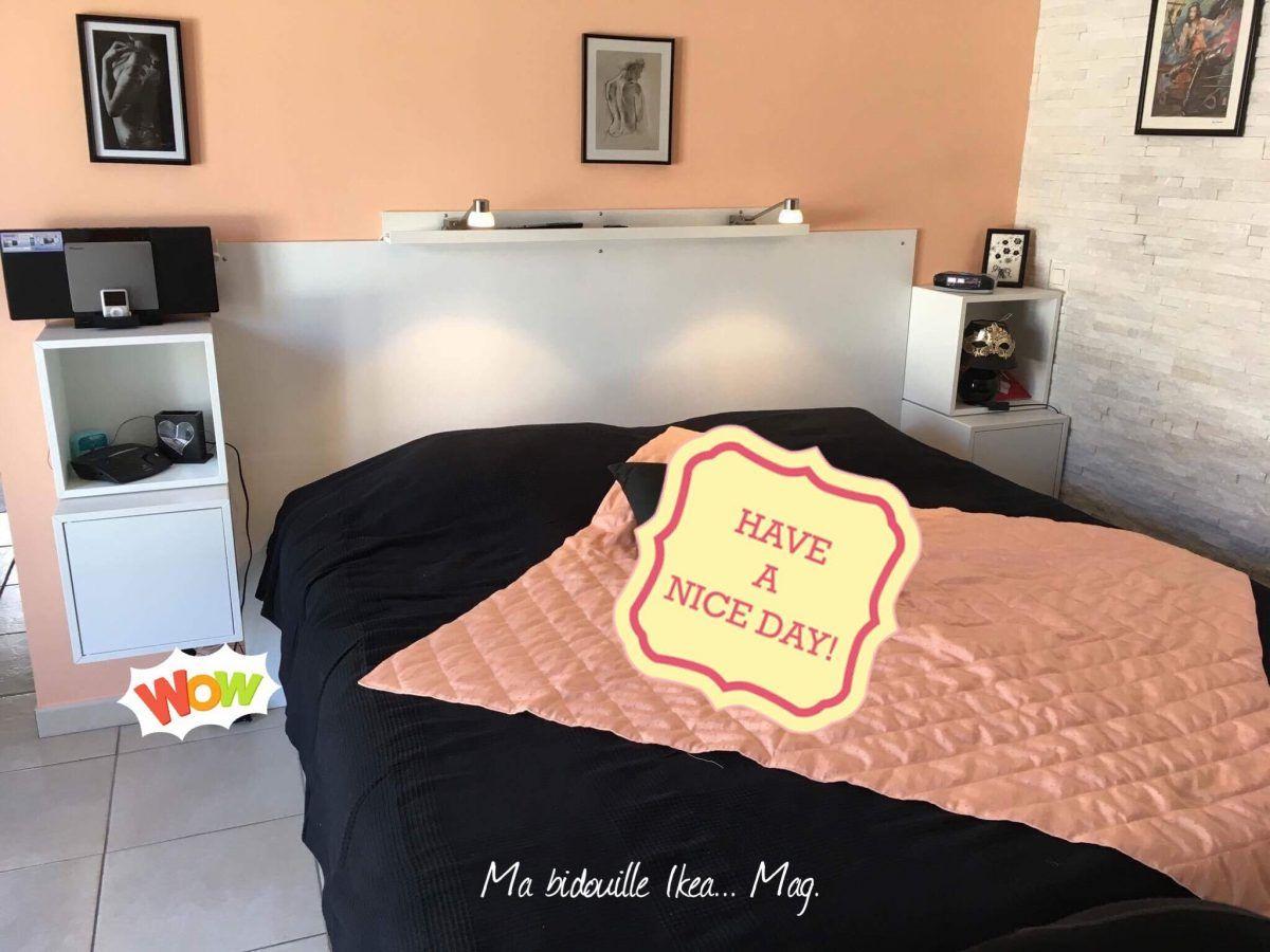 tete de lit sur mesure avec chevets
