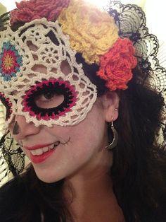 Ravelry: Sugar Skull Mask pattern by Farrah for 365 Crochet $4