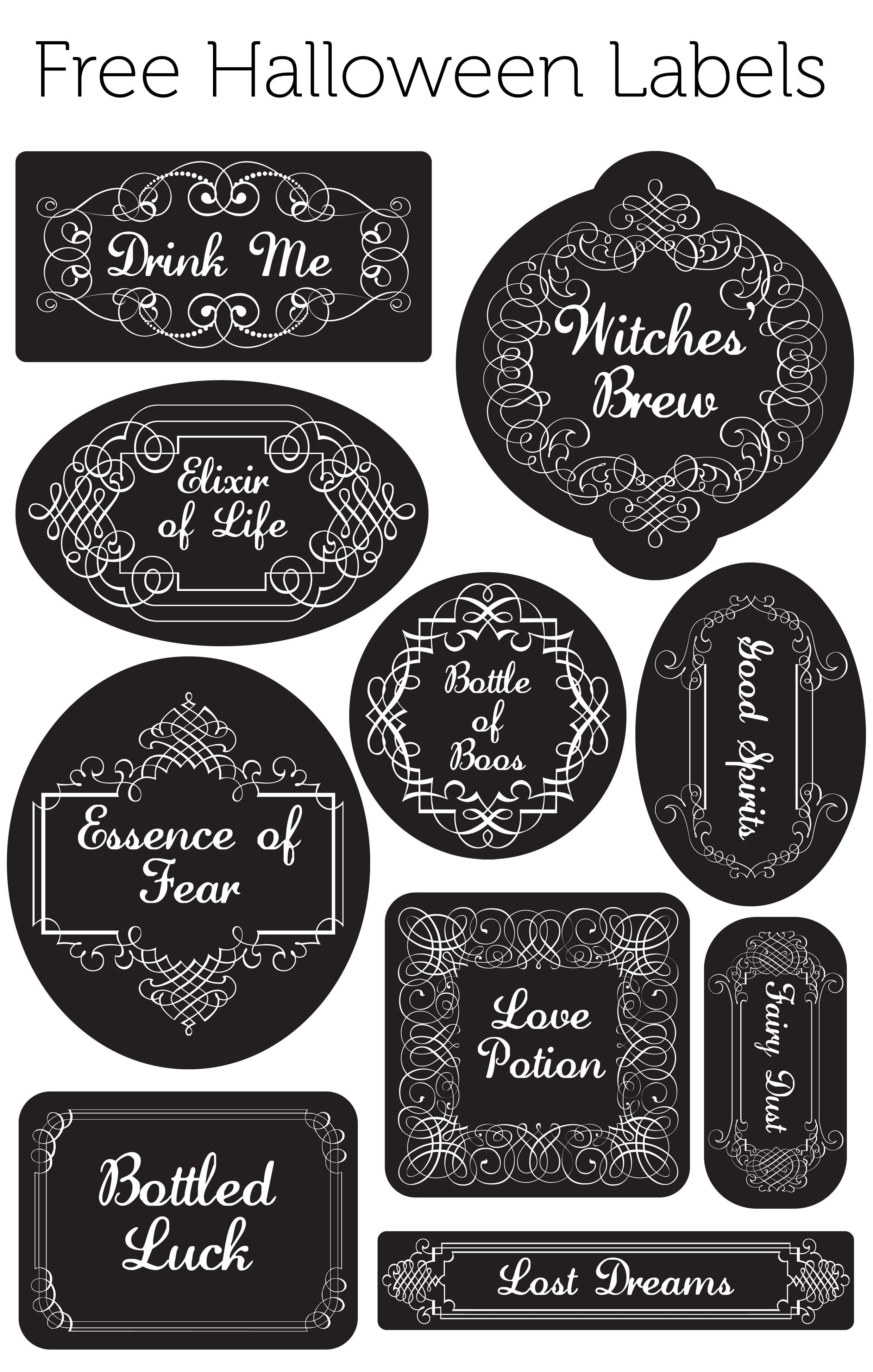 free halloween labels for jars glasses anything you want
